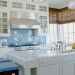 mavi renkli mutfak dekorasyonu 10