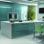mavi renkli mutfak dekorasyonu 4
