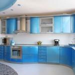 mavi renkli mutfak dekorasyonu 5