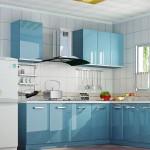 mavi renkli mutfak dekorasyonu 7