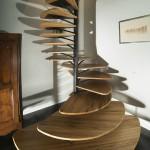 modern ahşap dönen merdiven modelleri