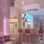 romantik dekoratif salon modeli