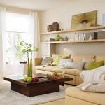 Küçük oturma odaları için dekorasyon