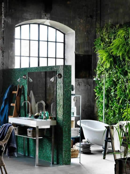 Banyo Dekorasyonunda Yeşil Etkisi